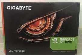 Tarjeta de video GIGABYTE  GT 1030 de 2 GB. Nueva, con 6 meses de Garantia.