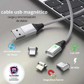 CABLE USB MAGNÉTICO ¡lo mejor!