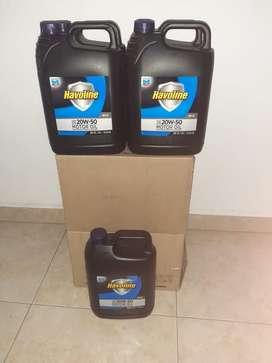 Vendo aceite de carro havoline20w50 60mil galon y cuarto para moto 16 mil pesos