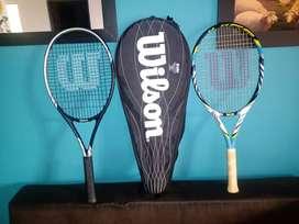 2 Raquetas de tennis marca wilson sin ningún uso