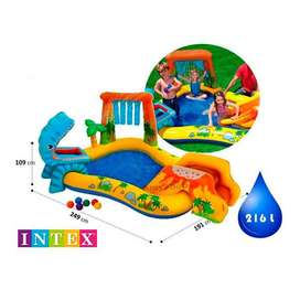 Intex Dinosaurio Inflable Centro De Juegos, 98in X 75in X 4
