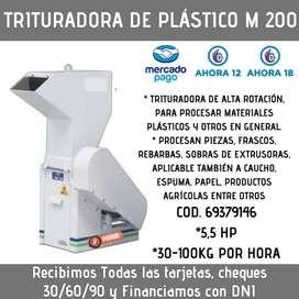 TRITURADORA DE PLÁSTICO M200 100 KG/HORA