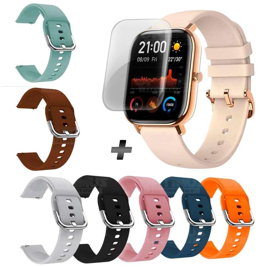 Reloj Inteligente Smartwatch Xiaomi Amazfit Gts+ Correa Manilla Adicional + Buff Screen Pelicula Protector