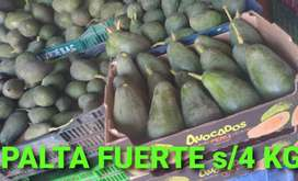 PALTA FUERTE DE PRIMERA  4 soles
