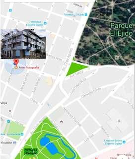 Parque  Ejido, habitación amoblada,  baño  y cocina privados , internet netlife veloz, terraza, lavandería-