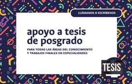 ASESORES DE TESIS DURANTE TODO EL PROCESO HACEMOS CORRECCIONES NORMAS APA FORMATO ASESORÍA ELABORACIÓN