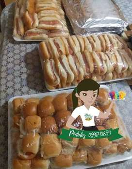 snacks Bocaditos piqueos sal dips