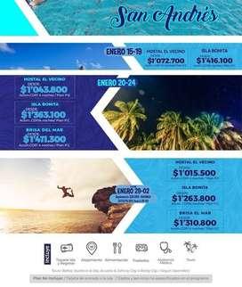 san Andres Enero Todo Incluido desde 1 072 000 4 noches 5 dias www webaviajar com