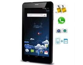 TABLET CELULAR 3G, D.D 16GB, RAM 1GB. QUAD CORE SMARTPHONE 7