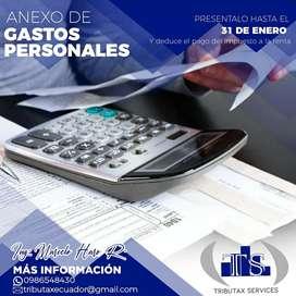 ANEXO DE GASTOS PERSONALES