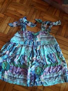 Lote ropa nena de malla remera nueva y blusa .Impecable!!