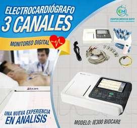 Electrocardiógrafo de 3 canales BIOCARE - Equipos e Insumos Médicos