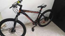 Bicicleta GW LYNX Negra - Naranja grupo Shimano Rin 29 Excelente estado