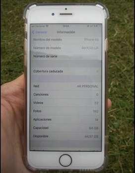 VENDO IPHONE O PERMUTO 6s 64gb libre