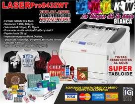 A1 Impresora laser oki tinta blanca super tabloide