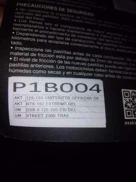 Pastillas de freno delanteras, Ref P1B004