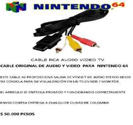 CABLE ORIGINAL DE AUDIO Y VIDEO PARA NINTENDO 64
