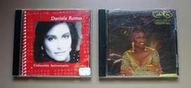 Lote x 2 CD DANIELA ROMO (COLECCION) Y CELIA CRUZ (IRREPETIB