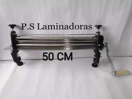 Maquina laminadora para masa, rodillos de 50cm, Manual