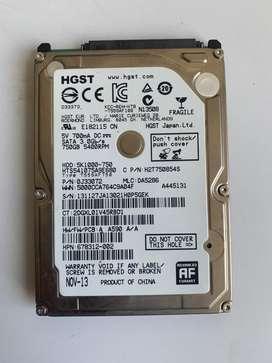 Disco duro 750gb para portatil al 100%