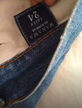Pollera de jeans