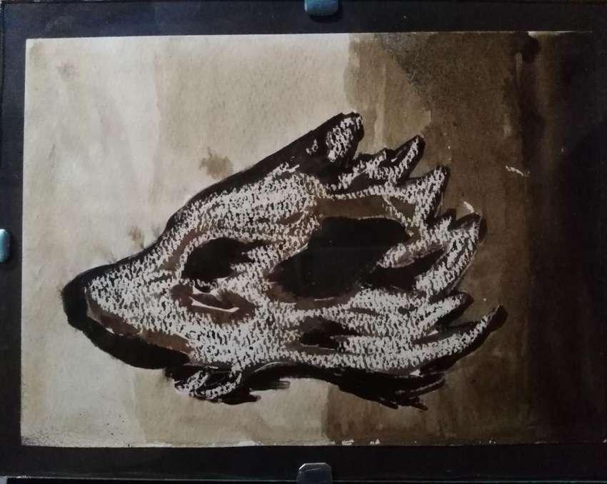 Pintura Nogalina Cuadro Decorativo Lobo 0
