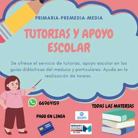 TUTORIAS Y APOYO ESCOLAR