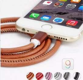 Cable Original Cuero 1Mt iPhone 5,6,7