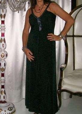 Vestido negro largo