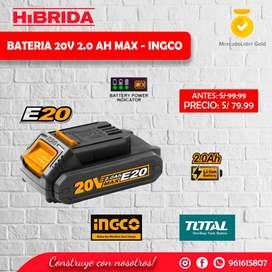 Batería 20v Ingco 2ah Taladro Amoladora Destornillador