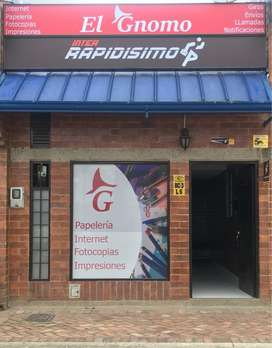Vendo interrapidisimo+ cafe internet+ papeleria + impresion+ laminacion + recargas+ llamadas + sist vigilancia-monitoreo