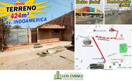 ¡ATENCION! TERRENO, 424m²,Av. Indoamerica, Trujillo (Incluye Casa) Paralela a Av Indoamerica, Trujillo.