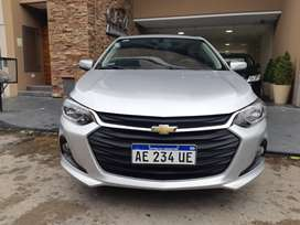 Chevrolet onix plus lt, año 2020, km 4900, full, color gris plata, nafta 1.2.