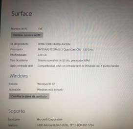Tablet surface RT