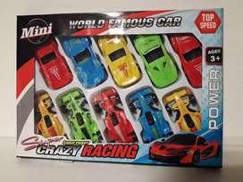 Set de 10 Autitos de Carrera Formula 1