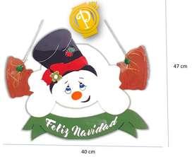 NAVIDAD Nieve puerta navideño