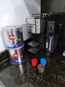 Cafetera italiana  Cuisinart EM-600 Buona Tazza SuperautomaticLatte Cappuccino y Cafetera, Negro