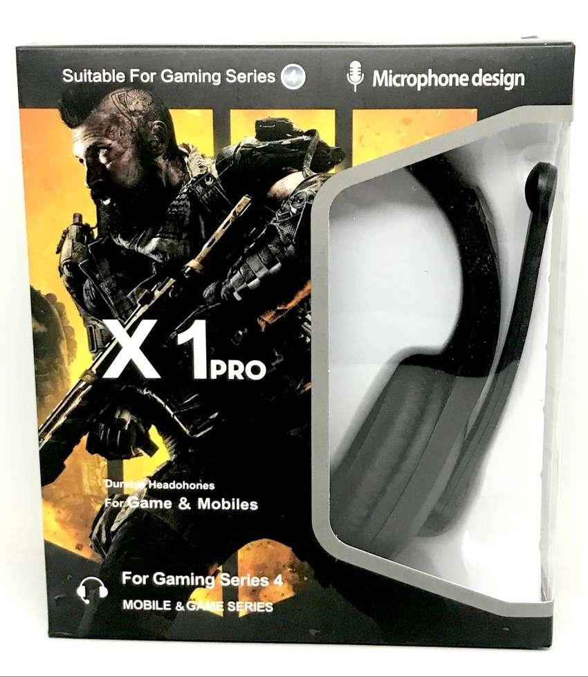 Diadema Gamer para Play 4, Xbox y computador (1 plug Triestereo) 0