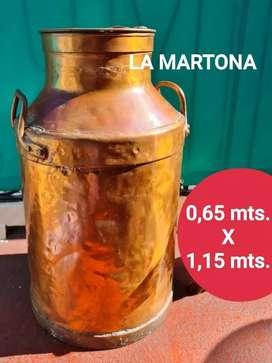 Tarro lechero de cobre cadena tapa marca La Martona ideal coleccionistas!!! ÚLTIMA UNIDAD