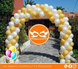 Decoración para cumpleaños arco en globo para fiestas celebraciones a domicilio en Bogotá y alrededores precioso arco