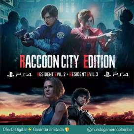 PS4 Resident Evil 3 + Resident Evil 2 PlayStation 4 Raccoon City MGC