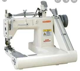 Operarias expertas máquina cinta hombros, filiteadora