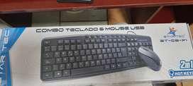 Combo alambrico USB teclado - mouse
