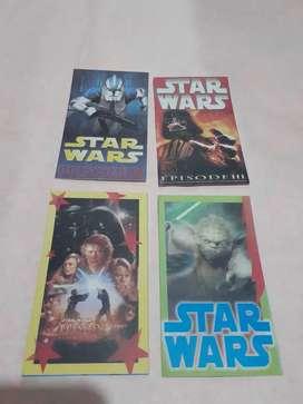 Blister de tarjetas para invitacion star wars