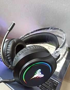 7.1 USB CONEXIÓN AL COMPUTADOR, NUEVAS, DIADEMAS GAMER HEADSET PRO SONIDO HI-FI RGB