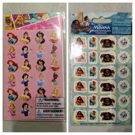 Stickers de Disney: Princesas y Moana. Nuevo