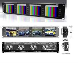 Marshall Electronics V-r44p Quad 4  Lcd Monitor 2 Unit Rack