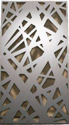 Chapa Perforada Decorativa Piel Metálica 1 X 2 Mts