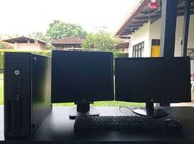 """Core i5 4ta generación corporativo con 2 monitores led 18.5"""""""