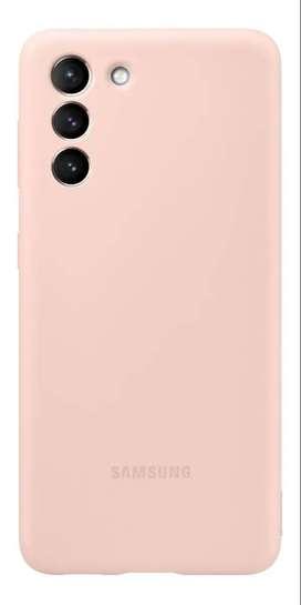Case FUNDA Samsung SILICONE COVER Original @ Galaxy S21 Normal  ROSA ARENA
